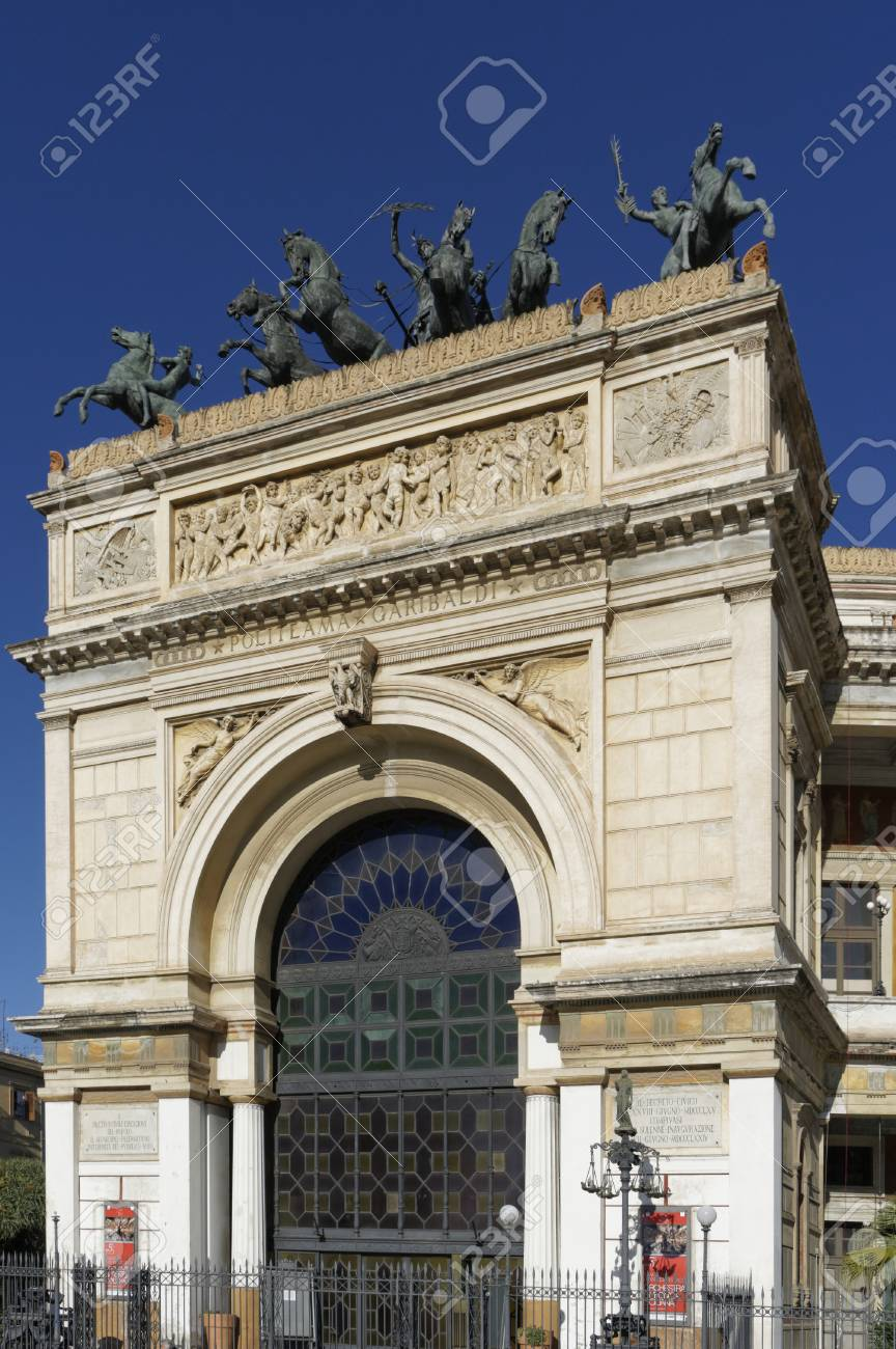 Politeama Opera House, Palermo Italy Stock Photo, Picture And ...