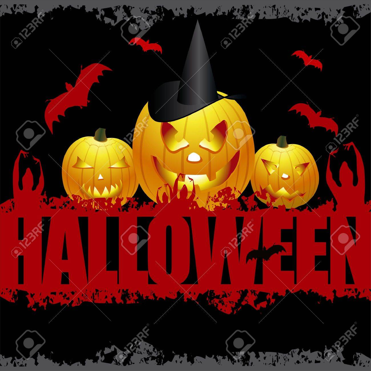 Halloween Scene Stock Vector - 5648795