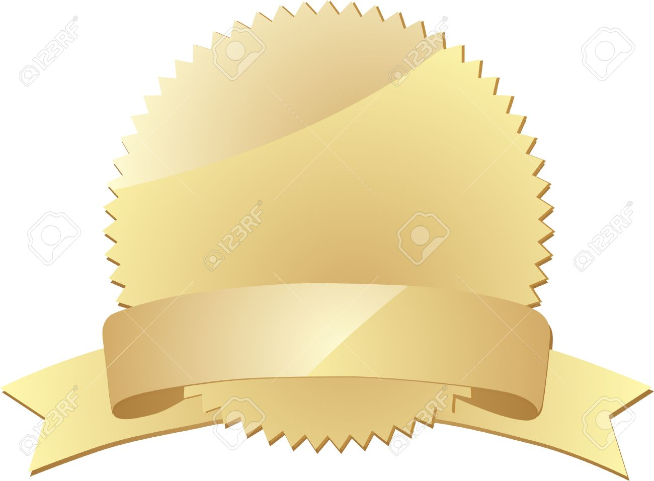 Blank gold label  Vector Stock Vector - 13521131