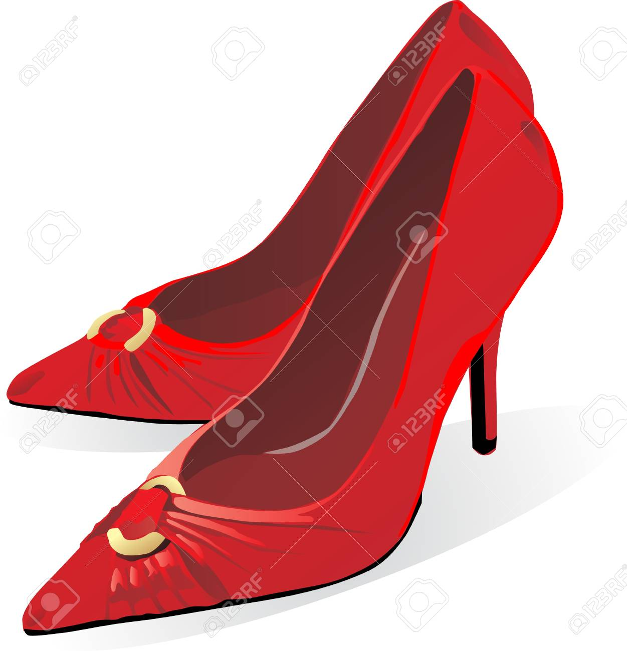 illustration of pair of red high heel shoe for female Stock Vector - 13521620