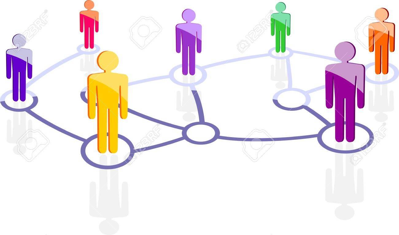 social network Stock Vector - 13585989