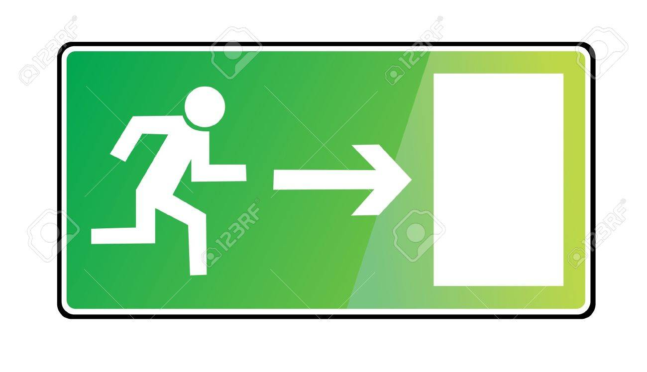 EMERGENCY EXIT SIGN Stock Vector - 13706972