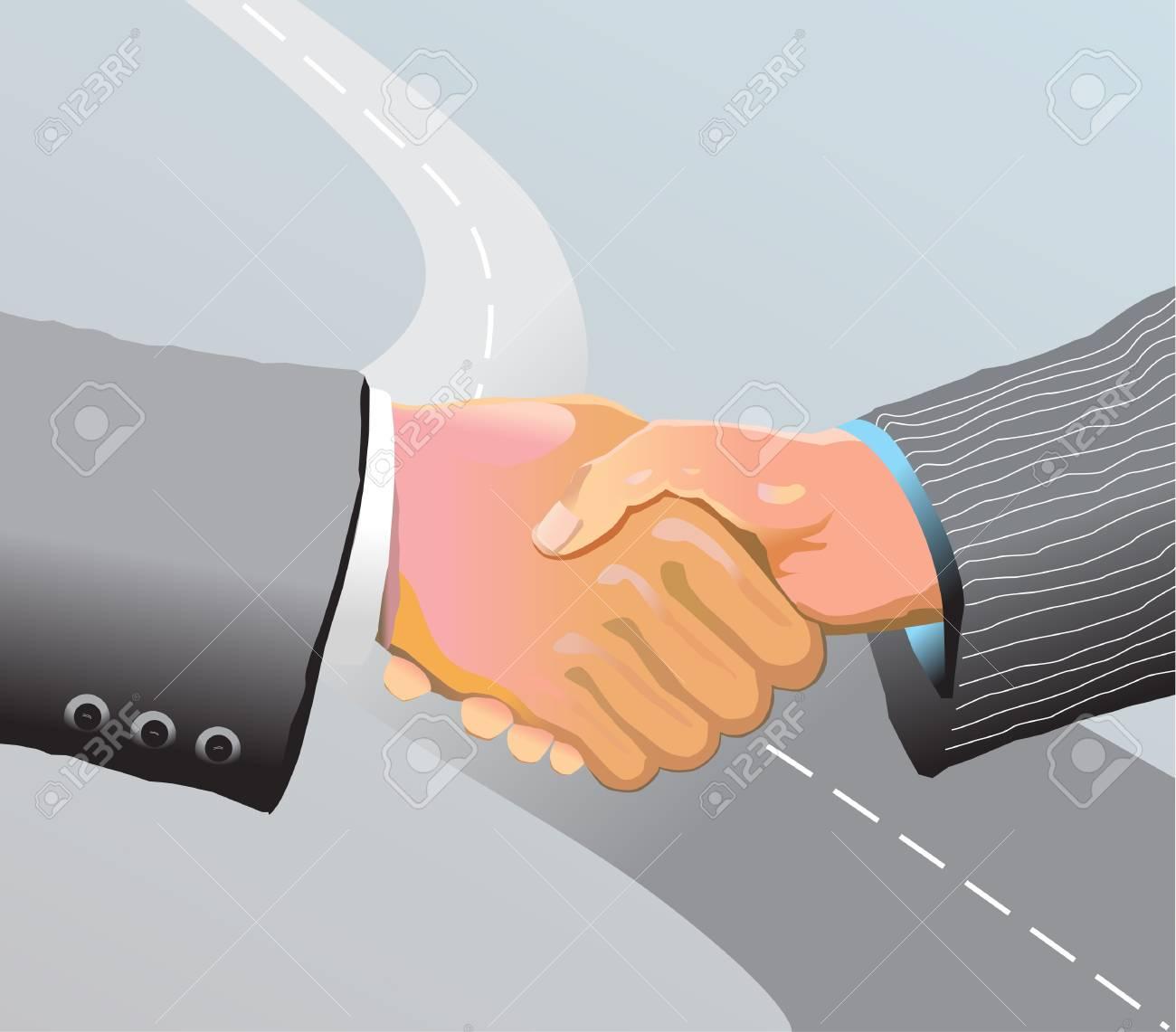 handshake Stock Vector - 13754007