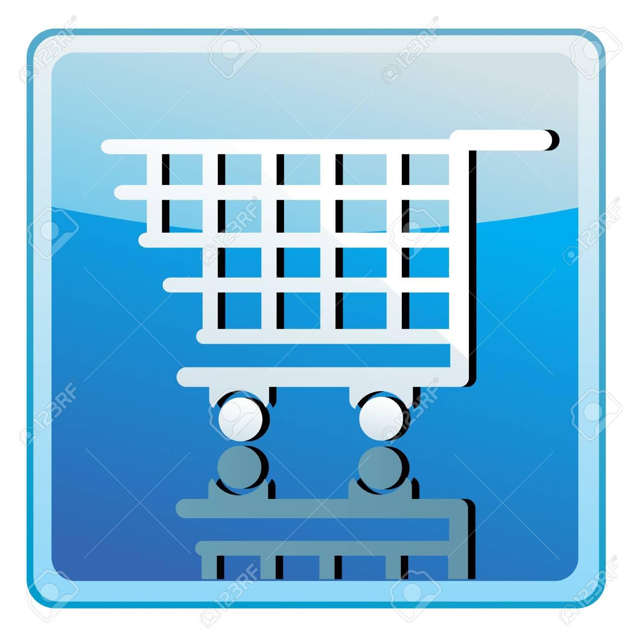 Shopping cart icon Stock Vector - 13775069