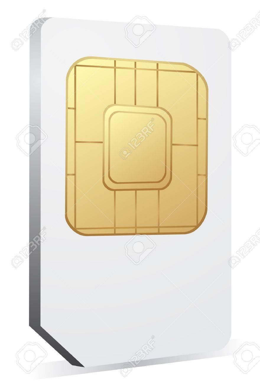 Sim icône de la carte Banque d'images - 14414925