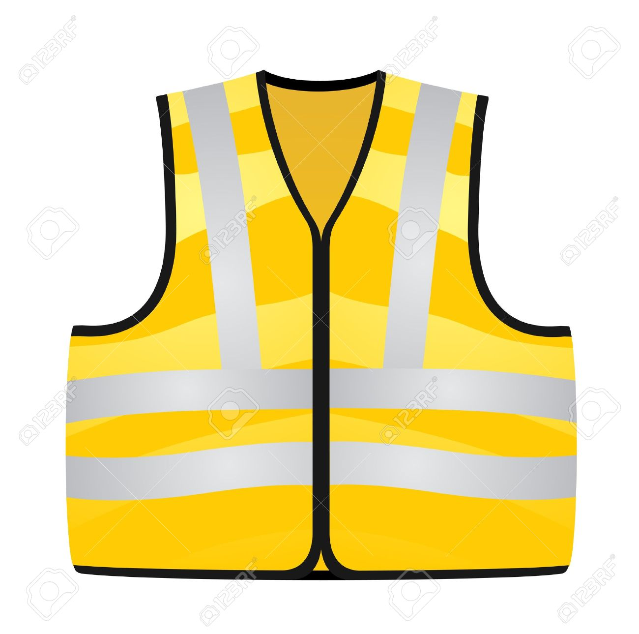 Yellow Vest Stock Vector