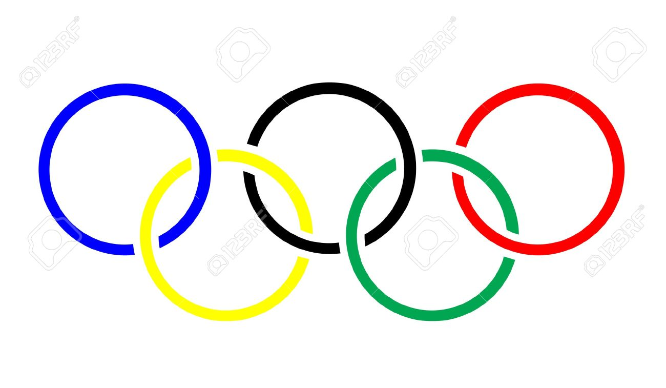olympic rings symbol or icon stock photo picture and royalty free rh 123rf com olympic rings logo clip art printable olympic rings clip art