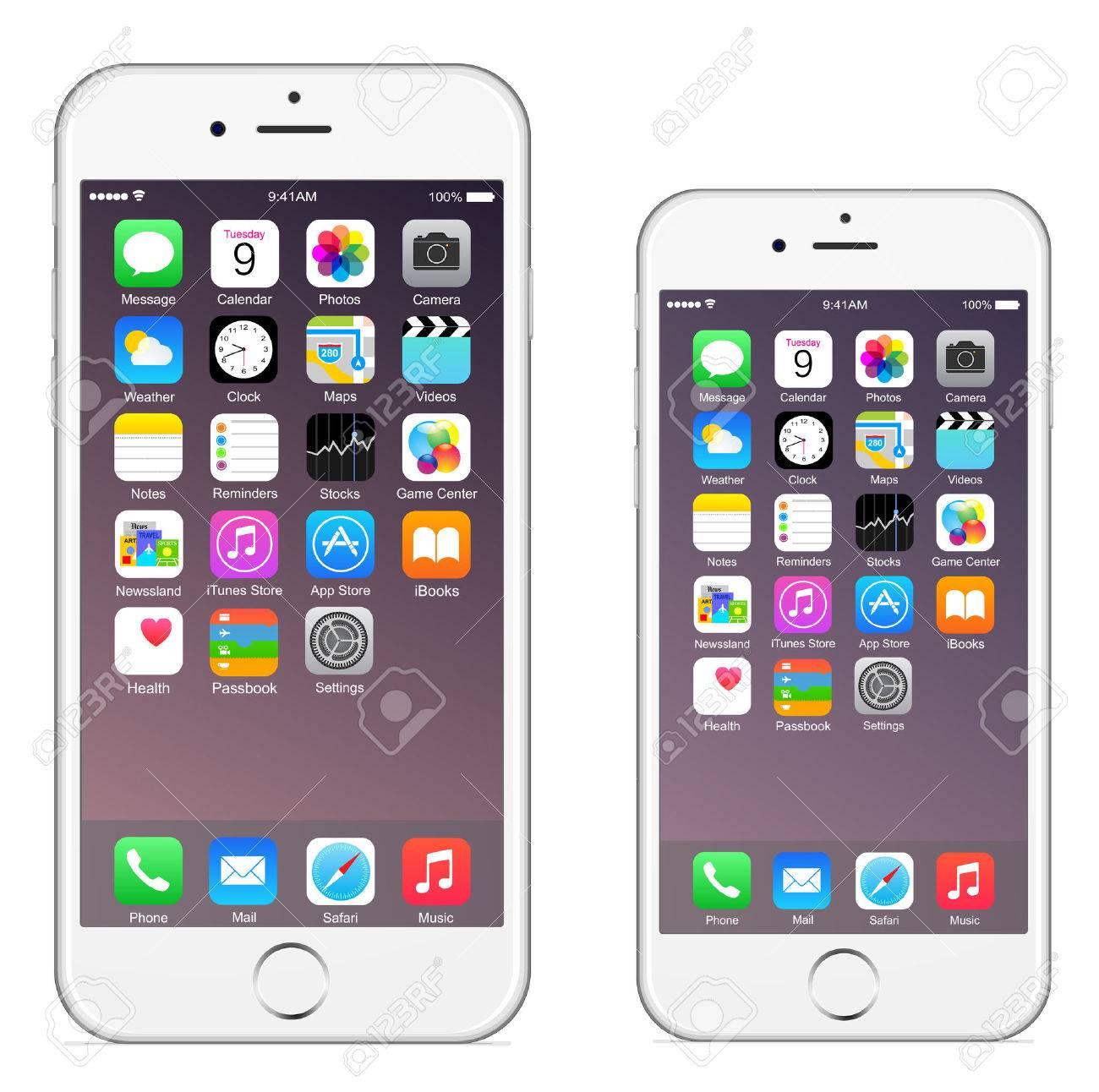 6 Iphone Iphone 6 plus Banque d'images - 31609862