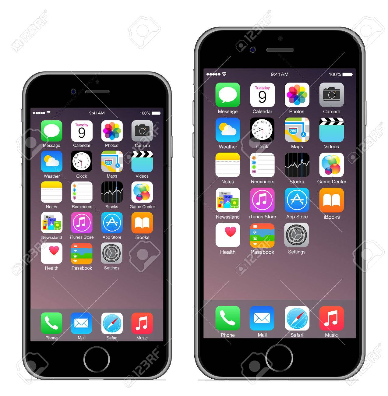 6 Iphone Iphone 6 plus Banque d'images - 31566894