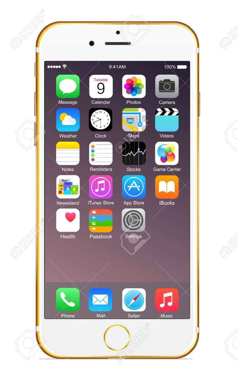 IPhone 6 plus l'or Banque d'images - 31608823
