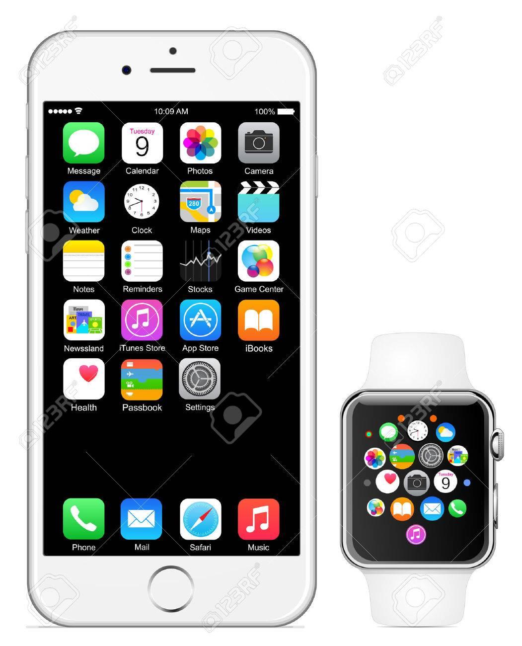 Montre Iphone 6 d'Apple Banque d'images - 31842237