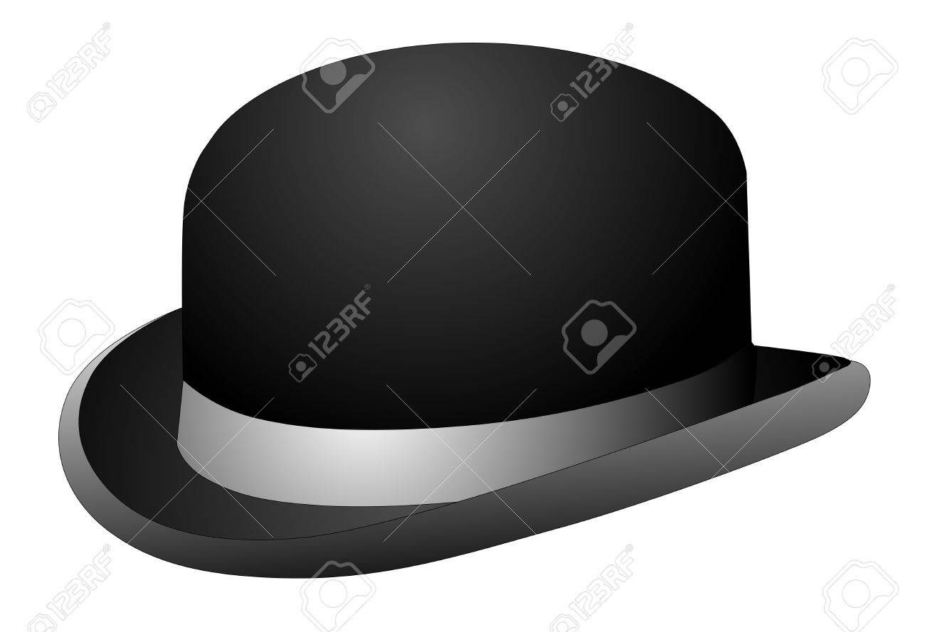 a444434d194 Black bowler hat on a white background vector eps 10 Stock Vector - 34232941