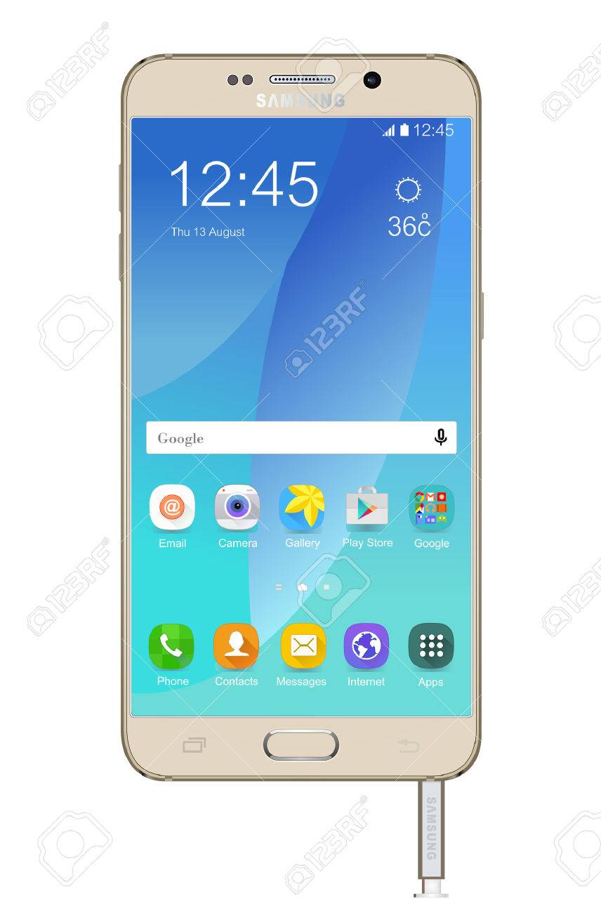 Samsung Galaxy Note 5 Banque d'images - 43721329