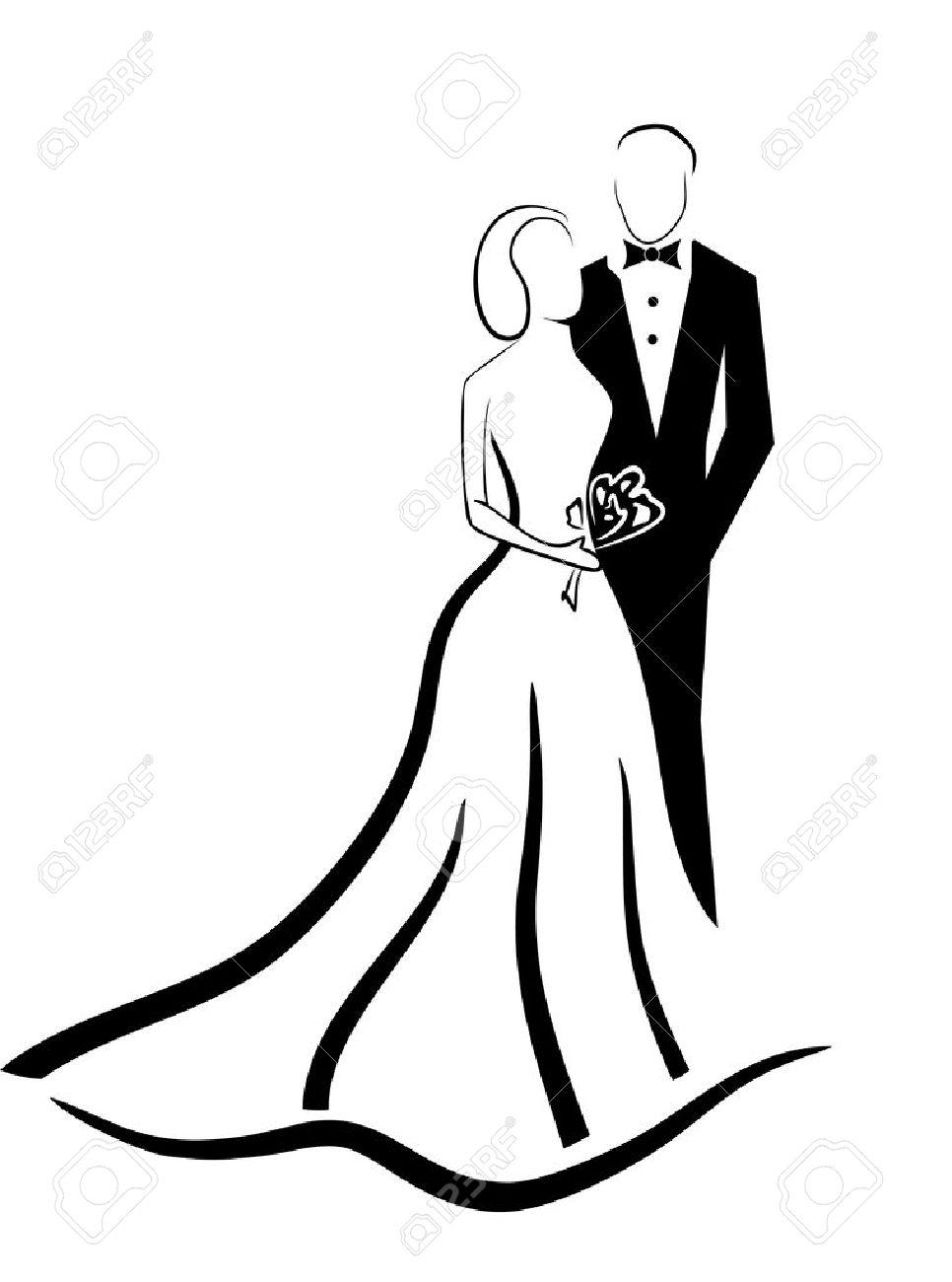 wedding couple vector eps 10 - 44033502