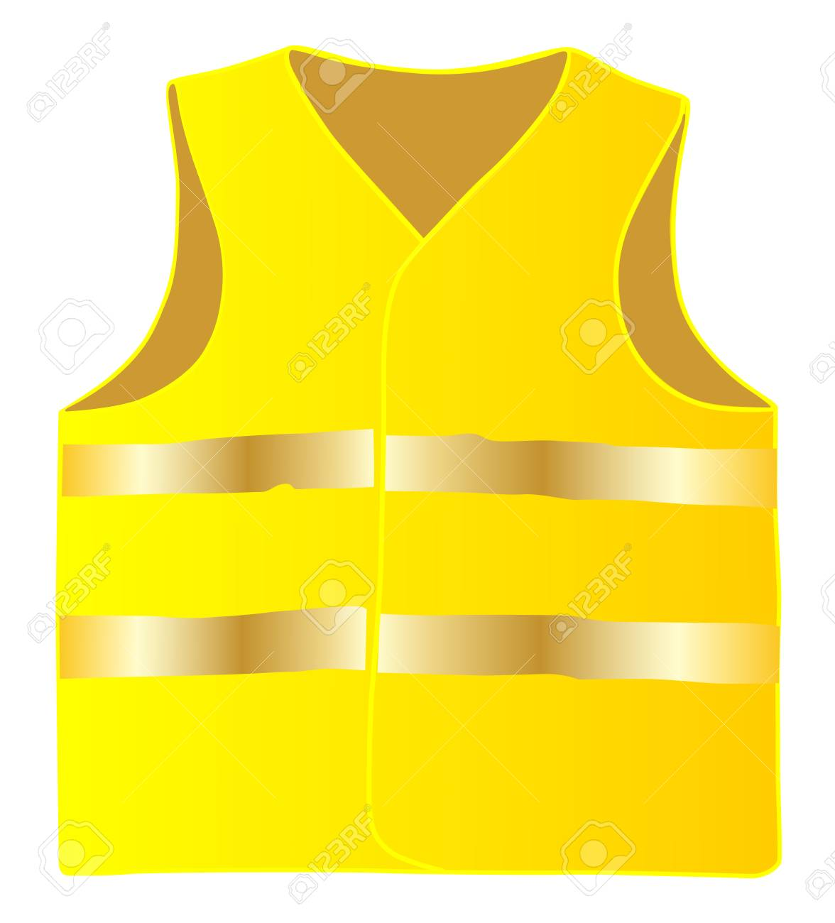 Safety vest isolate on white background vector eps 10 - 106300495