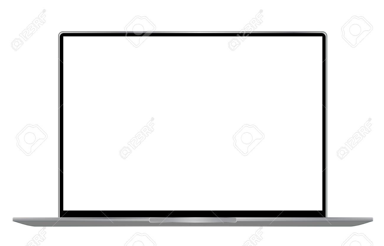 Modern laptop computer mockup - 110978444