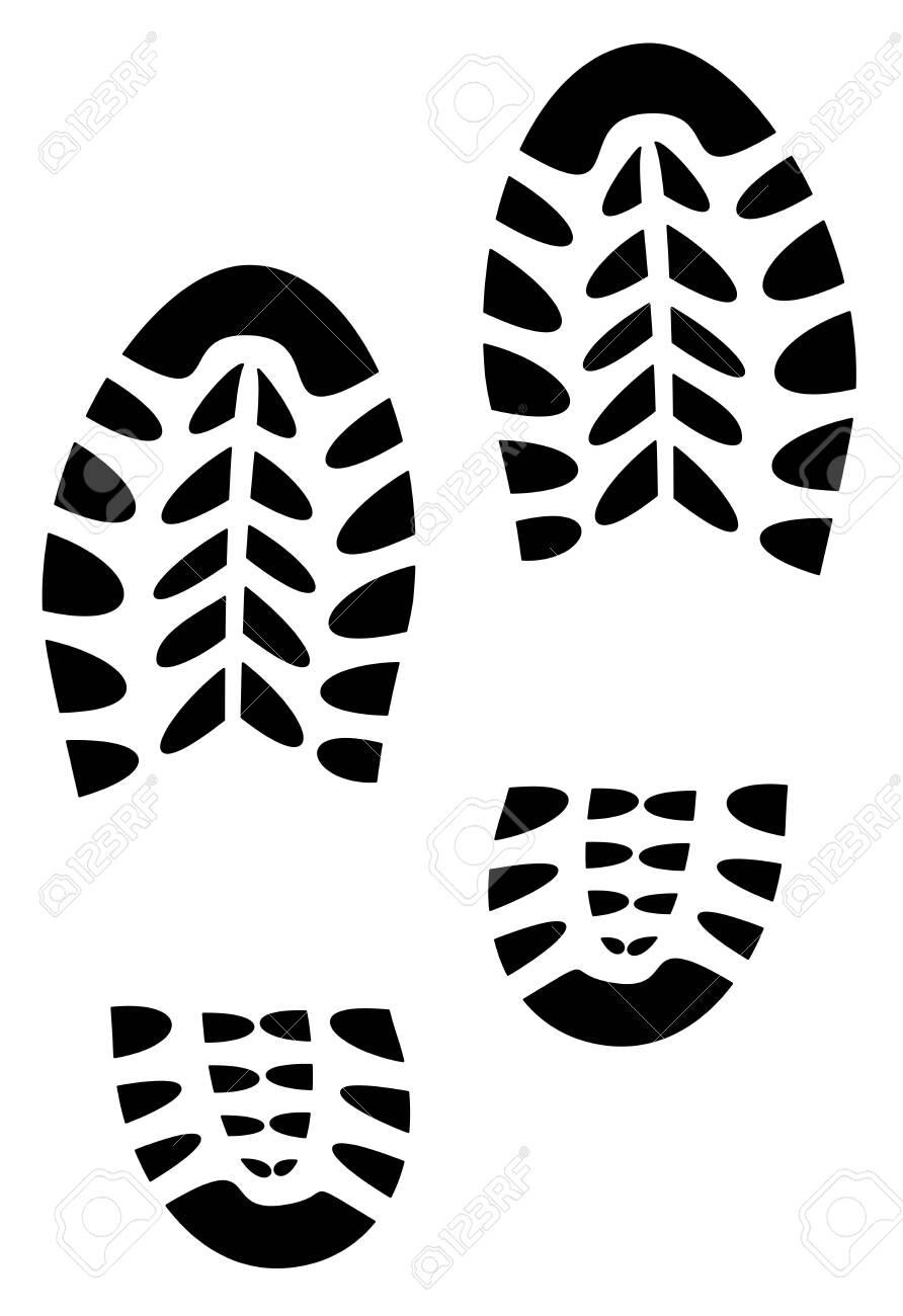 shoe print illustration vector eps 10 - 123170702