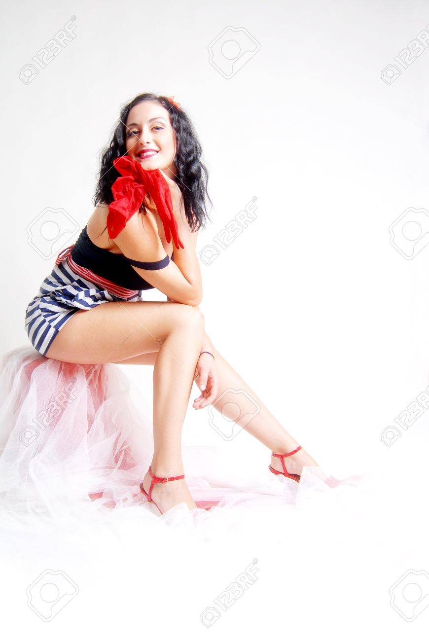 A pin up girl sitting Stock Photo - 11036256