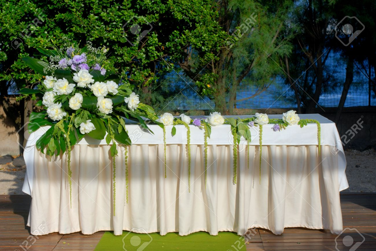 A wedding altar with flowers and plants stock photo picture and a wedding altar with flowers and plants stock photo 13157396 junglespirit Gallery