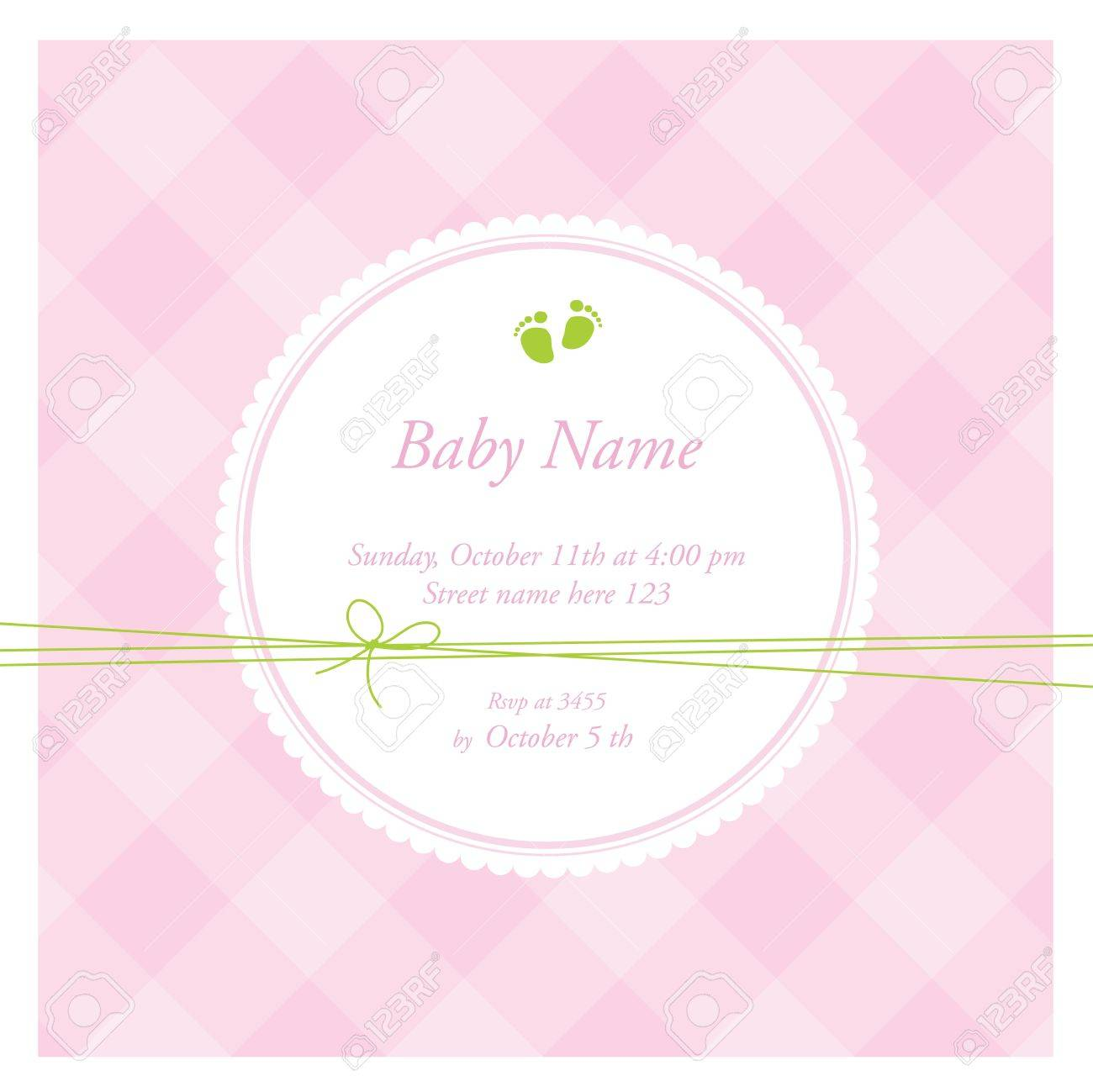 Baby shower card Stock Vector - 12391825