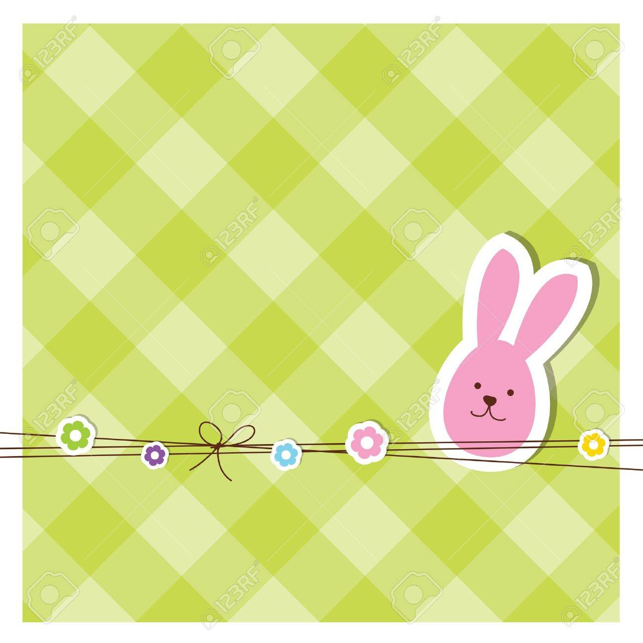 Easter card with copy space Stock Vector - 12391827