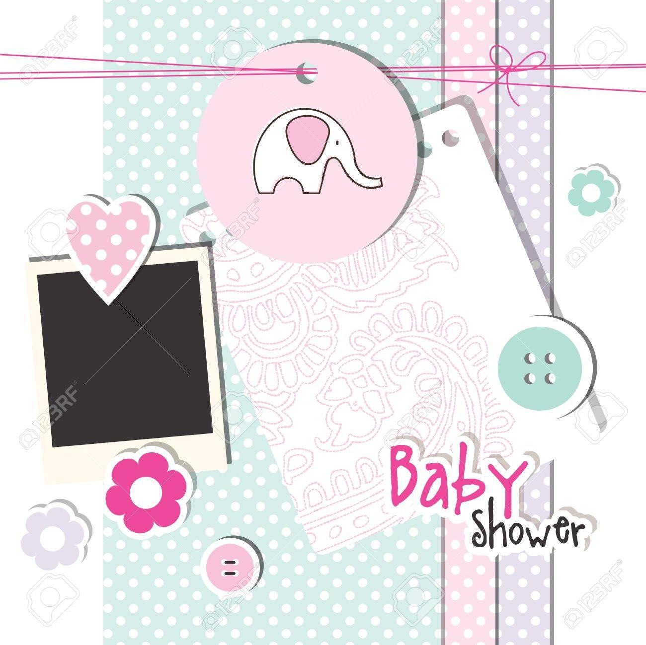 Baby shower design elements Stock Vector - 13251428