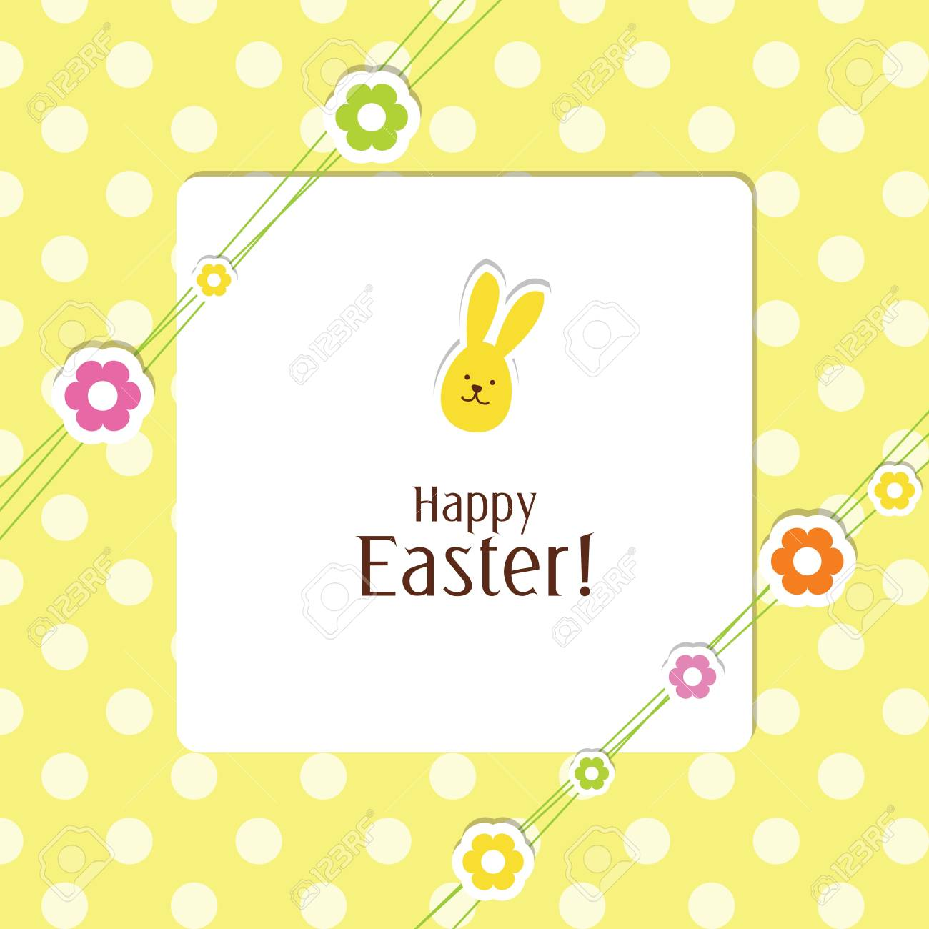 Easter card with copy space Stock Vector - 13503316