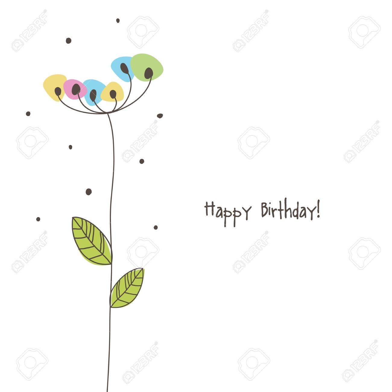 Greeting card with copy space Stock Vector - 20027620
