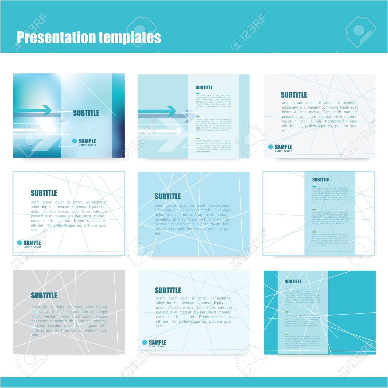 business presentation slide templates - power point template, Presentation templates
