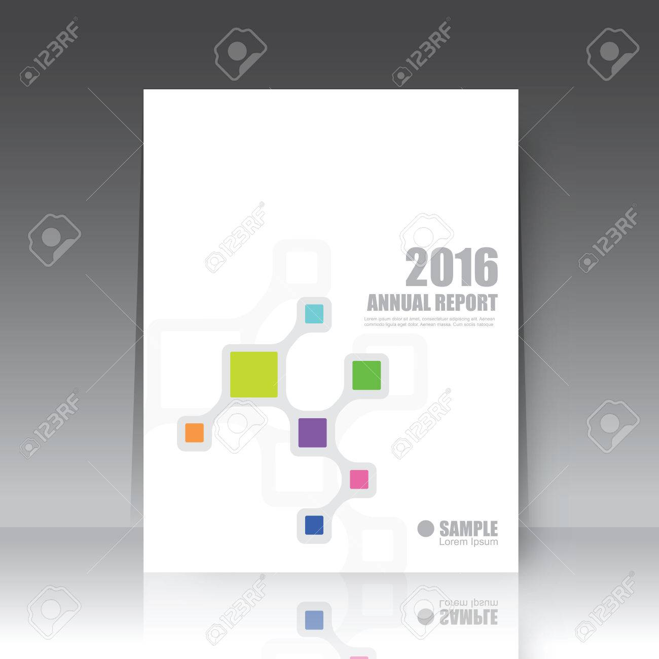 Annual report cover, brochure template - 60169549