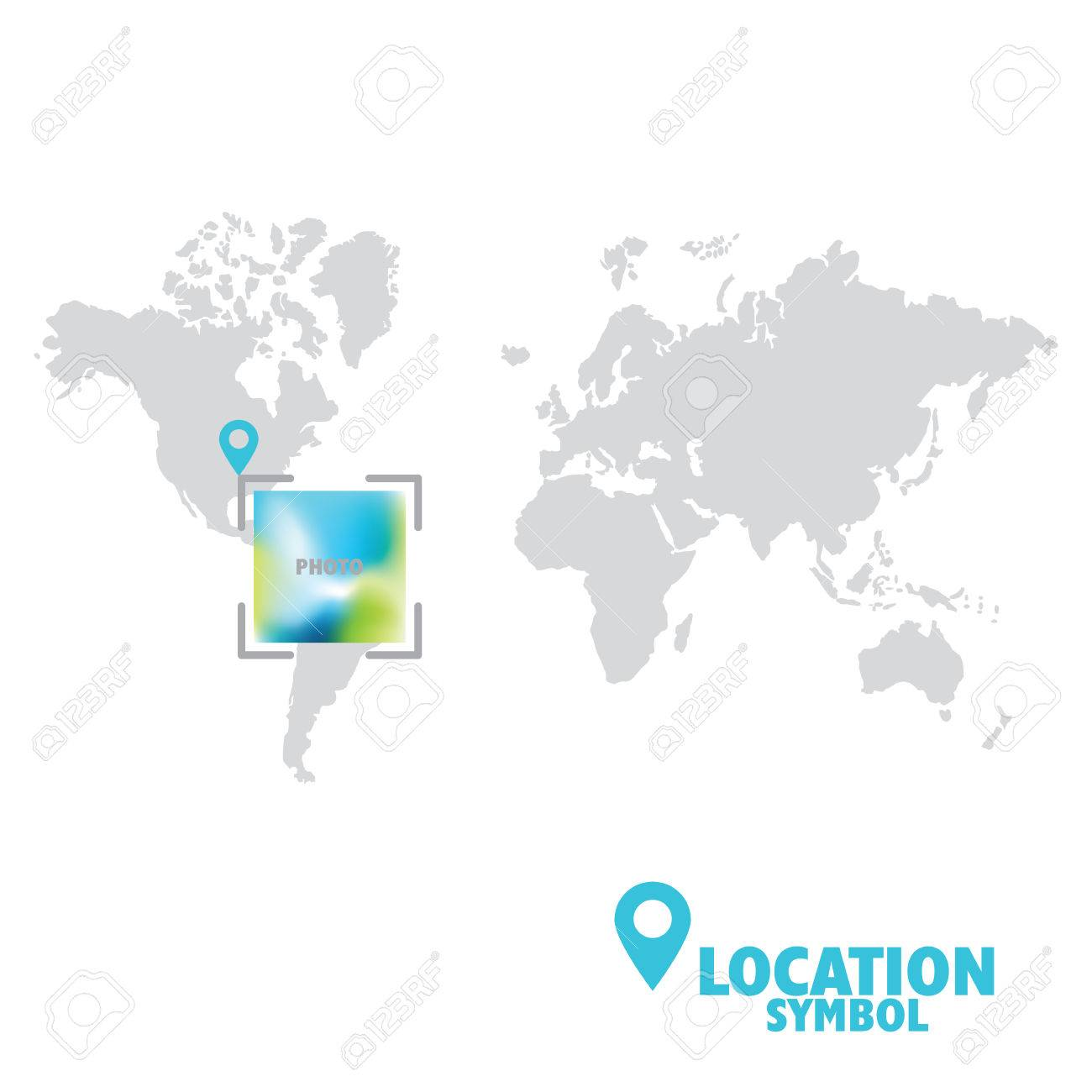 World Map Gps.Location Symbol Map Pointer Gps Location Icon World Map Royalty