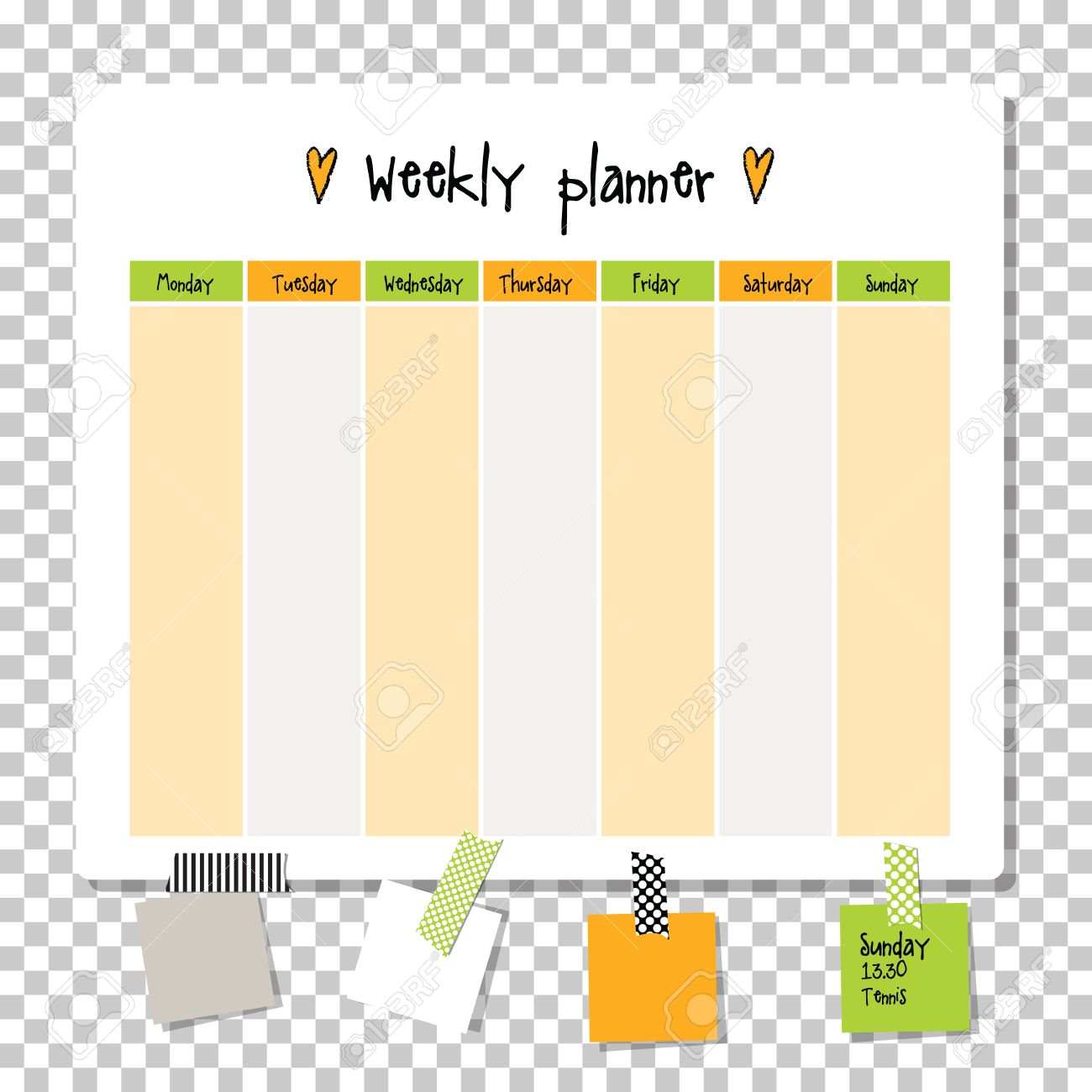 vector weekly planner note paper notes to do list organiser planner template note paper new year and christmas time