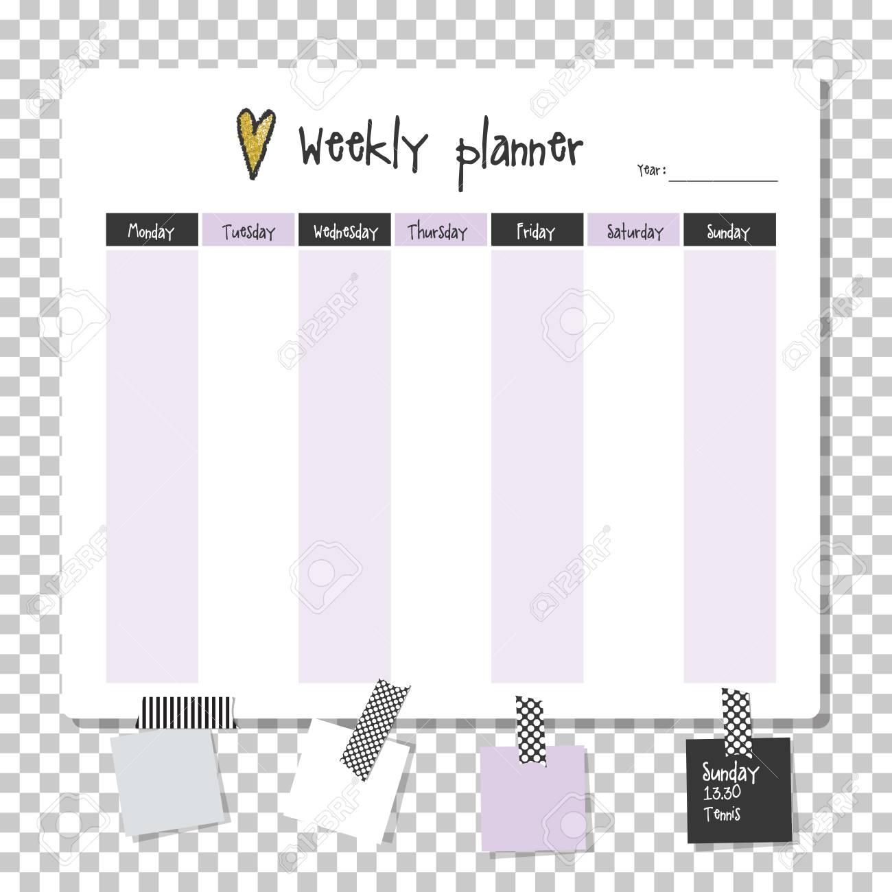 liste des choses /à faire par semaine non dat/ée 25,4 x 17,8 cm papier 100 g//m/² Bloc-notes hebdomadaire /à d/étacher avec planning quotidien et calendrier 52 feuilles