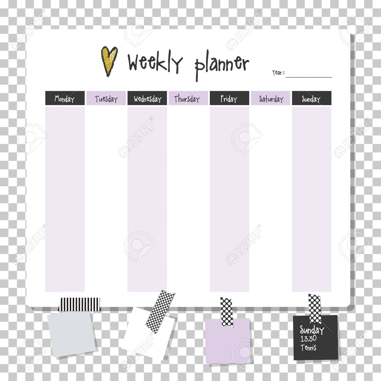 image relating to Time and to Do Planner named Weekly planner. Be aware paper, Notes, in direction of do checklist. Organiser planner..