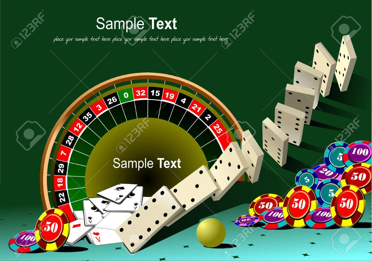 Casino Elements With Domino Principle. Vector Illustration Royalty Free  Cliparts, Vectors, And Stock Illustration. Image 5456049.