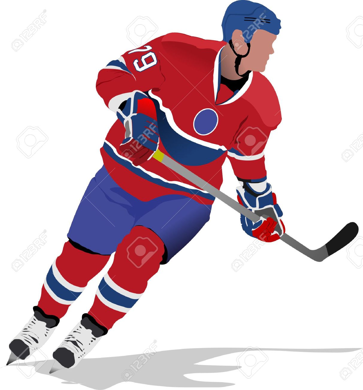 Ice hockey players.   illustration Stock Vector - 7797606