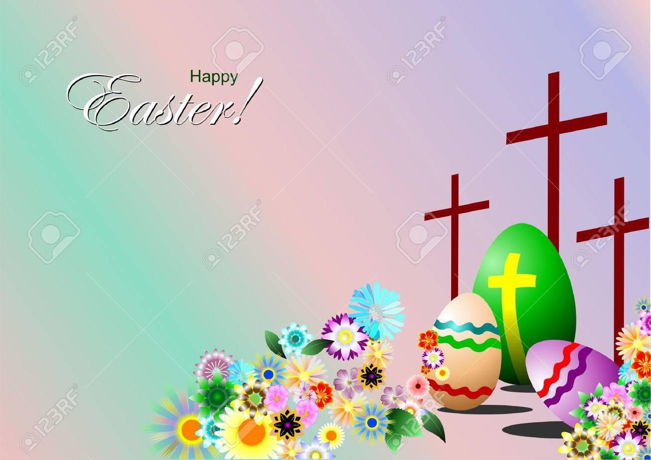 Easter day symbols background.