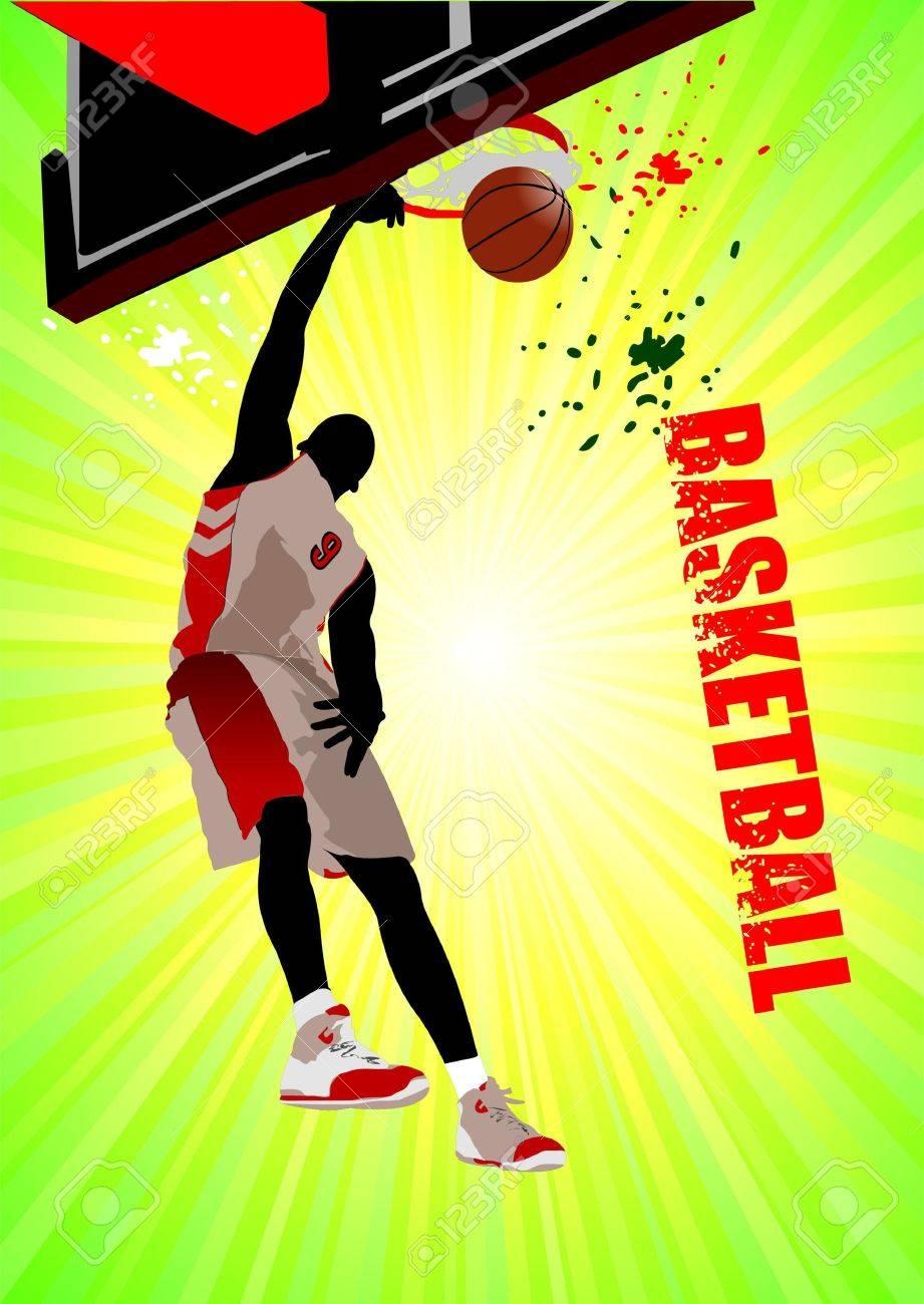 Basketball poster. Stock Vector - 8480835