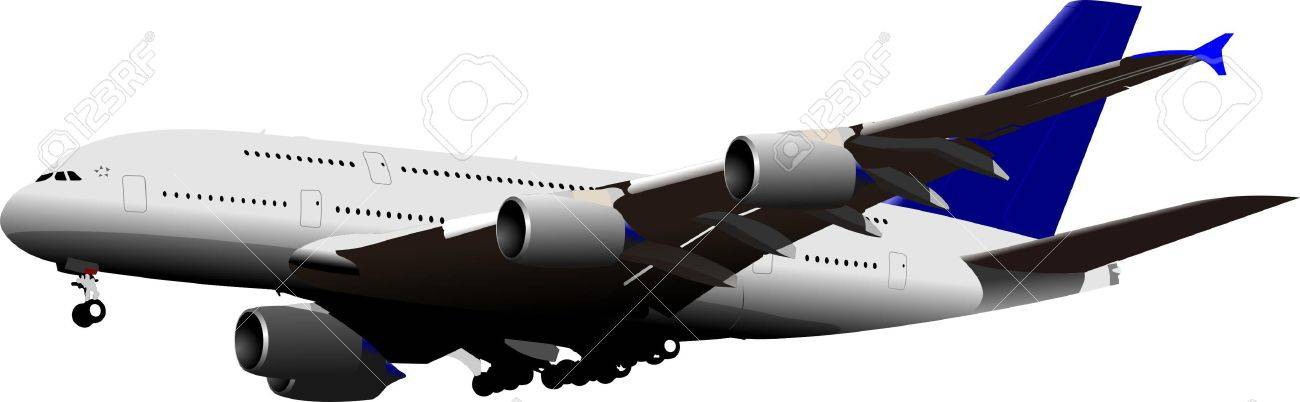 Landing Airplane . Vector illustration for designers Stock Vector - 9551685