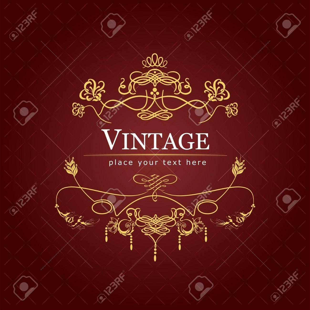 Invitation vintage card. Wedding or Valentine`s Day. Vector illustration Stock Vector - 10013537