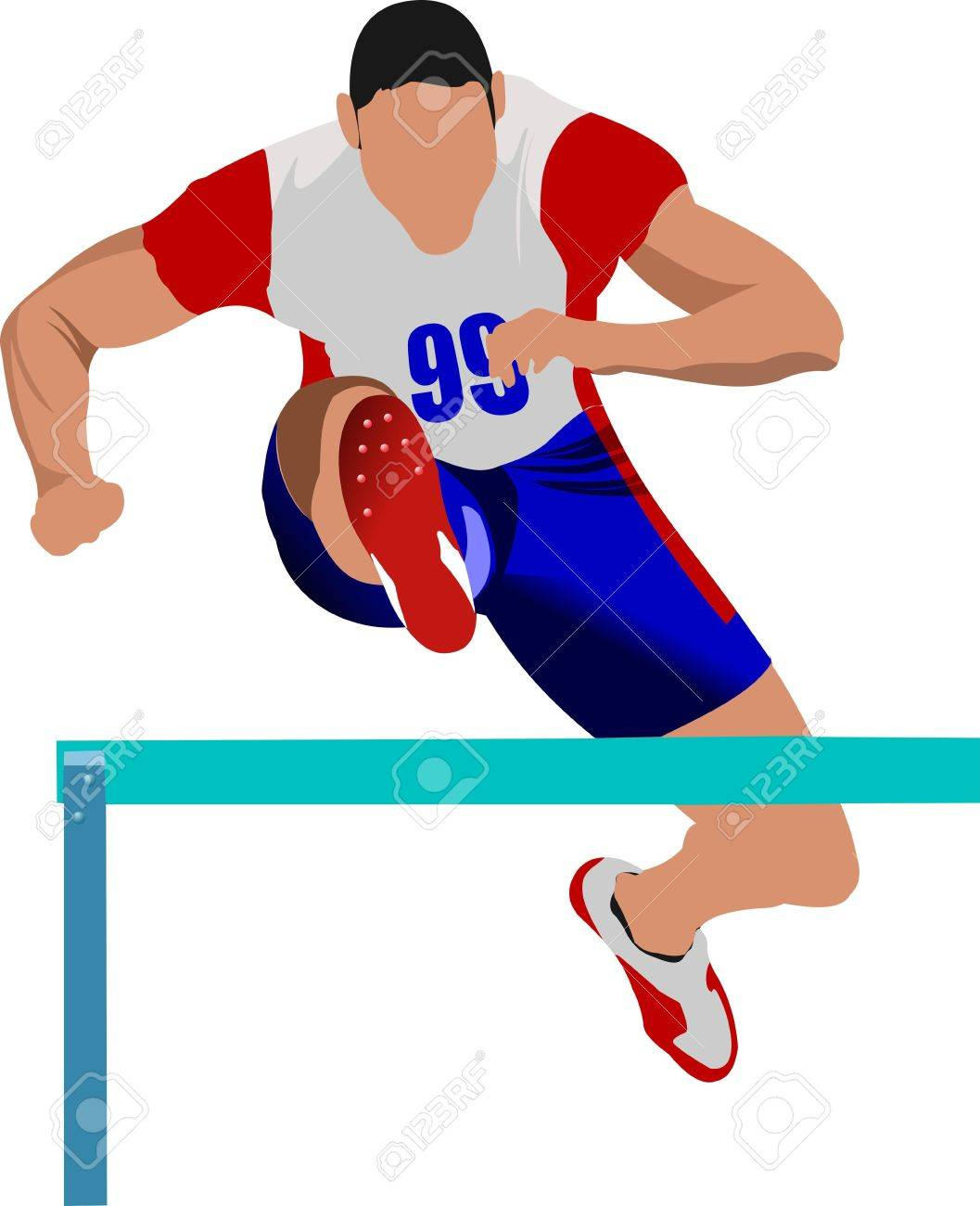 track and field  Man running Track And Field Clipart Hurdles
