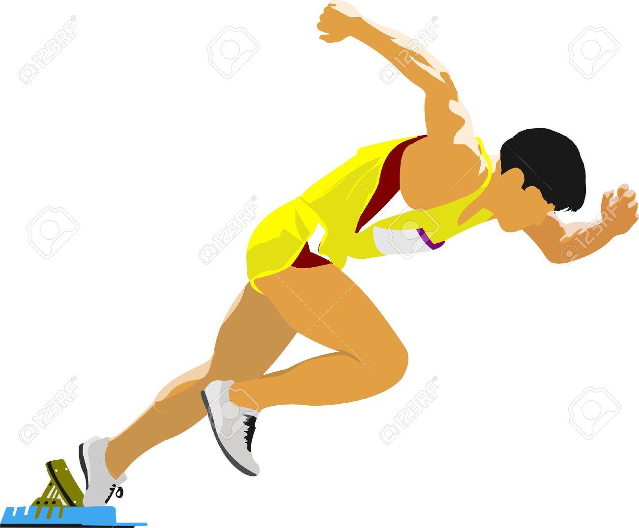 Short-distance runner. Start. - 10556769