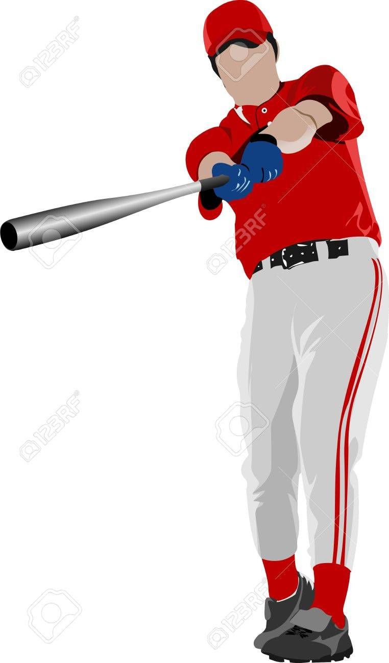 Baseball player. Stock Vector - 10556783