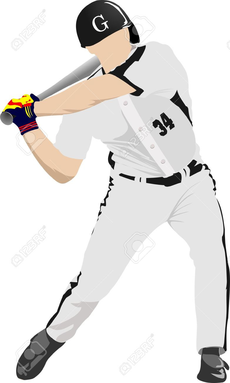 Baseball player. Stock Vector - 10556782