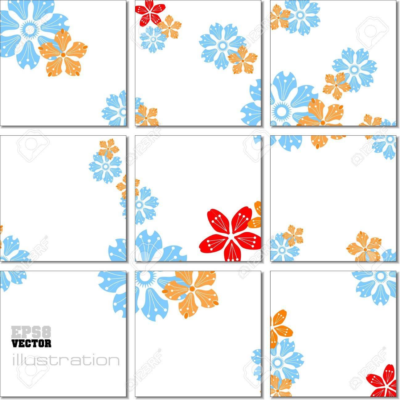 Illustration geometrical mosaic pattern in blue tones Stock Vector - 10556816