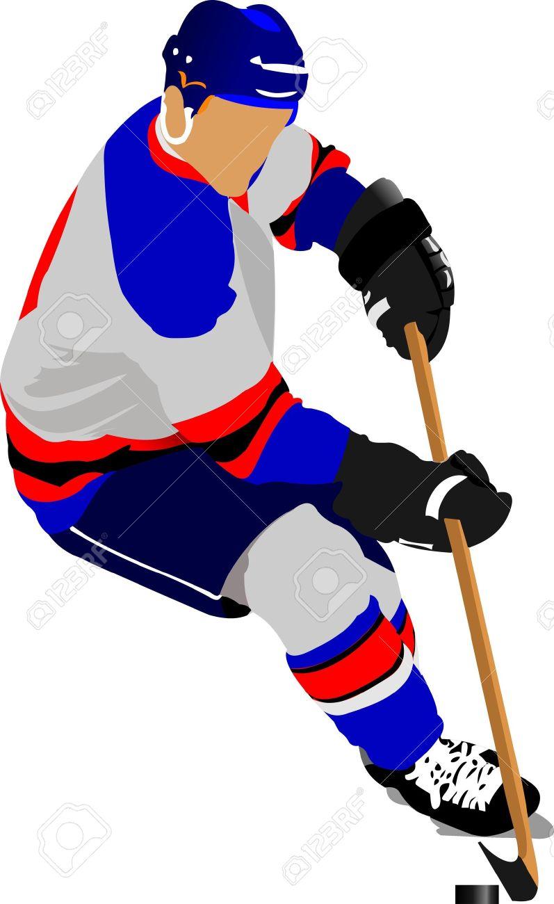 Ice hockey players. Vector illustration Stock Vector - 11383739