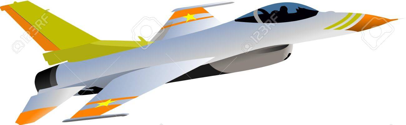 Combat aircraft Armed Vector illustration for designers - 15127759
