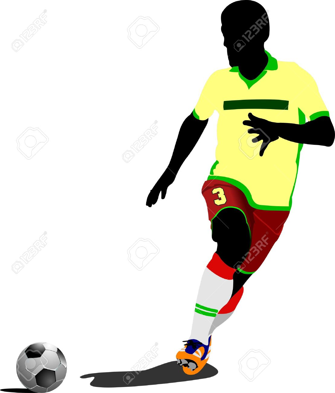 Football  soccer  players  Colored Vector illustration for designers Stock Vector - 15127763