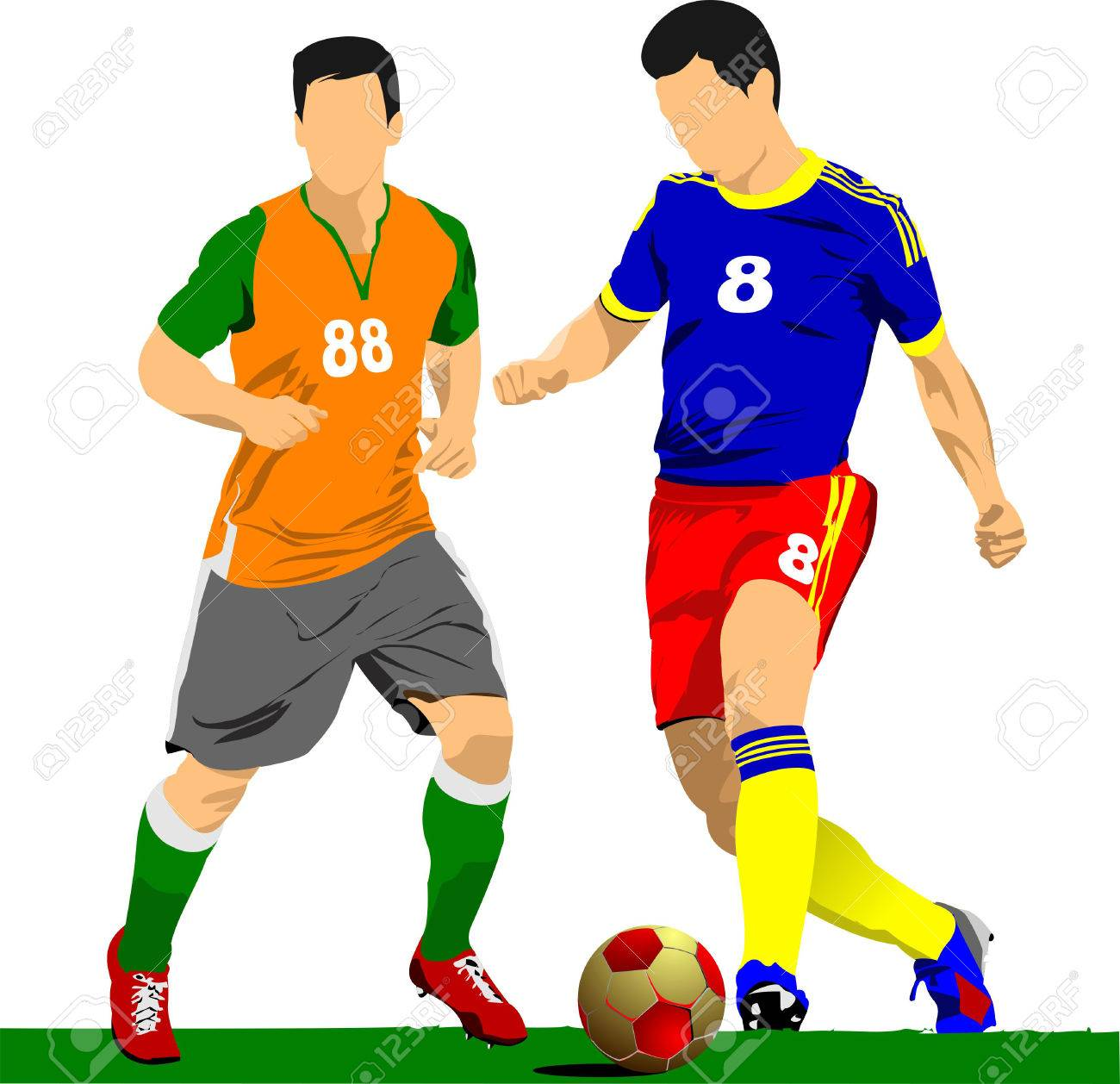 soccer player poster. football player. vector illustration royalty free  cliparts, vectors, and stock illustration. image 31242677.  123rf