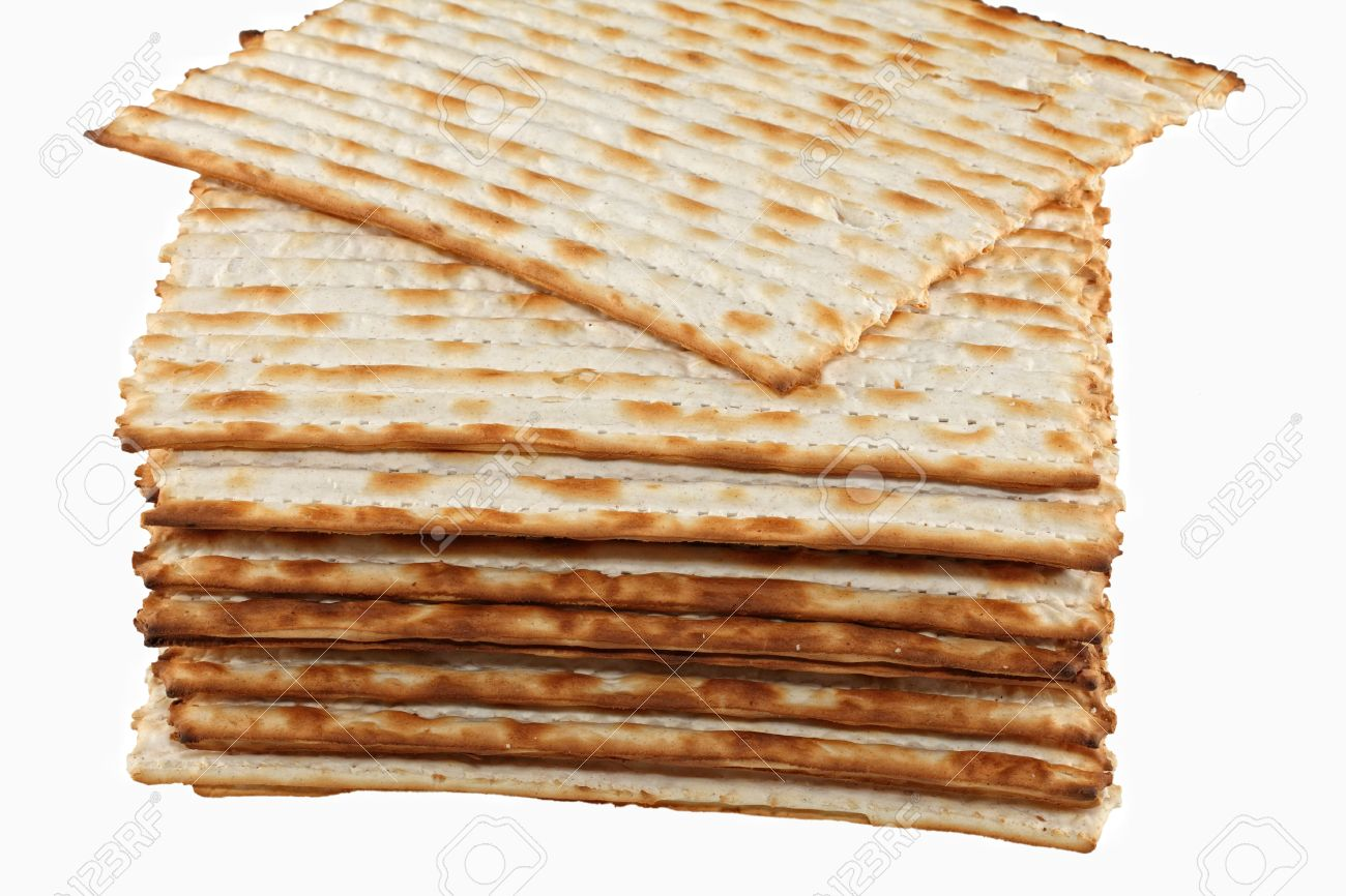 The Jewish Matzo Flatbread For Passover Seder Stock Photo, Picture ...